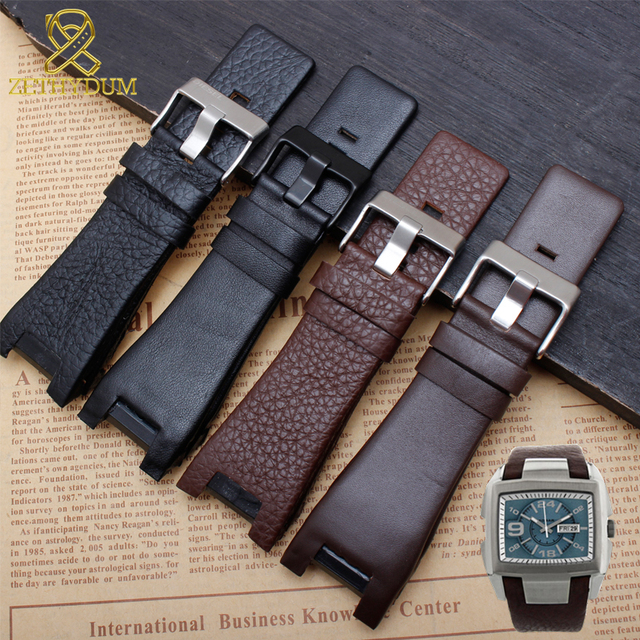 Genuine leather bracelet 32mm watchband for diesel watch strap wristwatches band