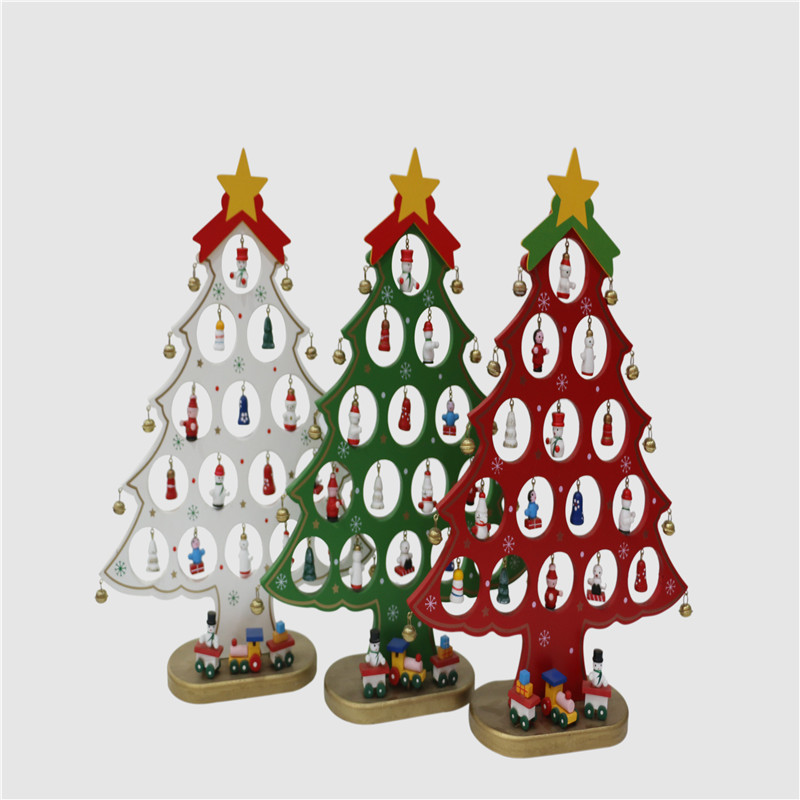 New Arrival Christmas Wooden Christmas Tree Desktop DIY ...