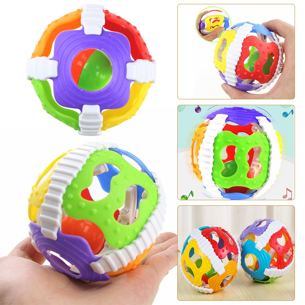 1Pc Baby Rattles Hand Bell Ball Activity Grasping Toy Baby Kids Intelligence Develop Edu ...