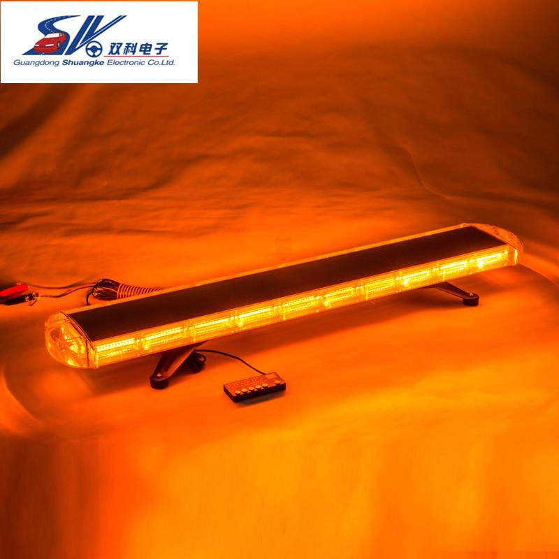 "Blue//Amber Beacon 11/"" Mini Light Bar Emergency Fire LED Light Strobe Flashing"