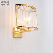 Postmodern Nordic Glass Bar Lights Aisle Corridor Stair Decor Wall Lights  Living Room Bedroom Bedside Designer