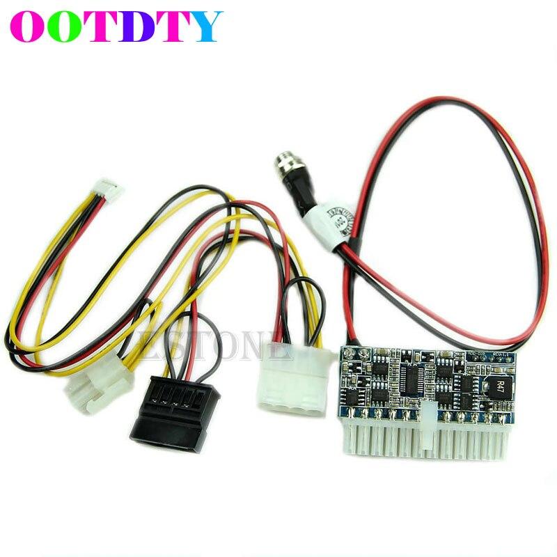 DC 12 V 160 W 24Pin Pico DC-ATX-160W módulo interruptor PSU Auto Mini ITX de módulo de fuente de alimentación para mini-itx y 1U caso