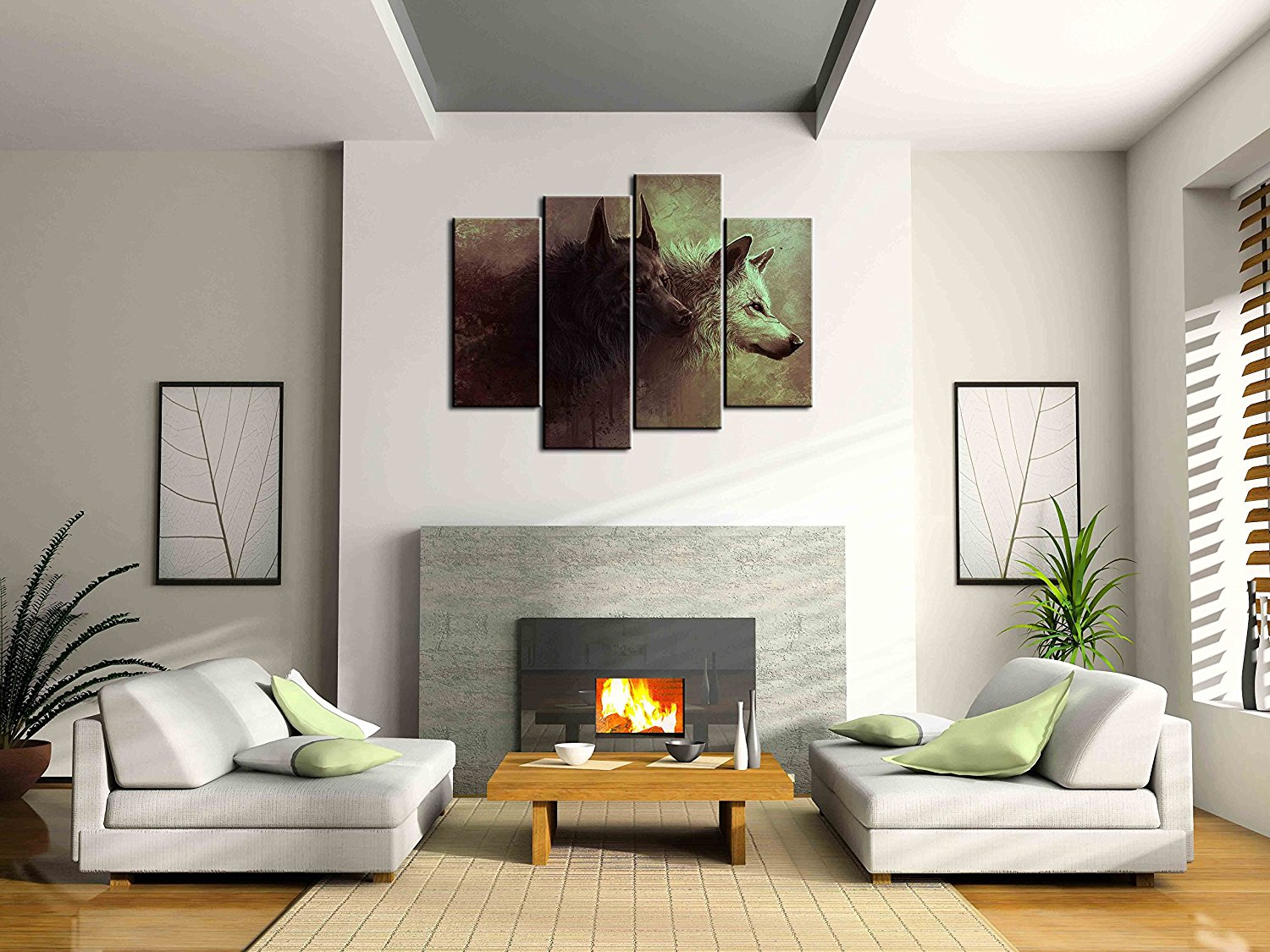 home office artwork. 4 Panels Wall Decorations For Living Room Wolf Home Office Artwork Unframed  Canvas Photo Prints Art Picture Painting-in Painting \u0026 Calligraphy Home Office Artwork A