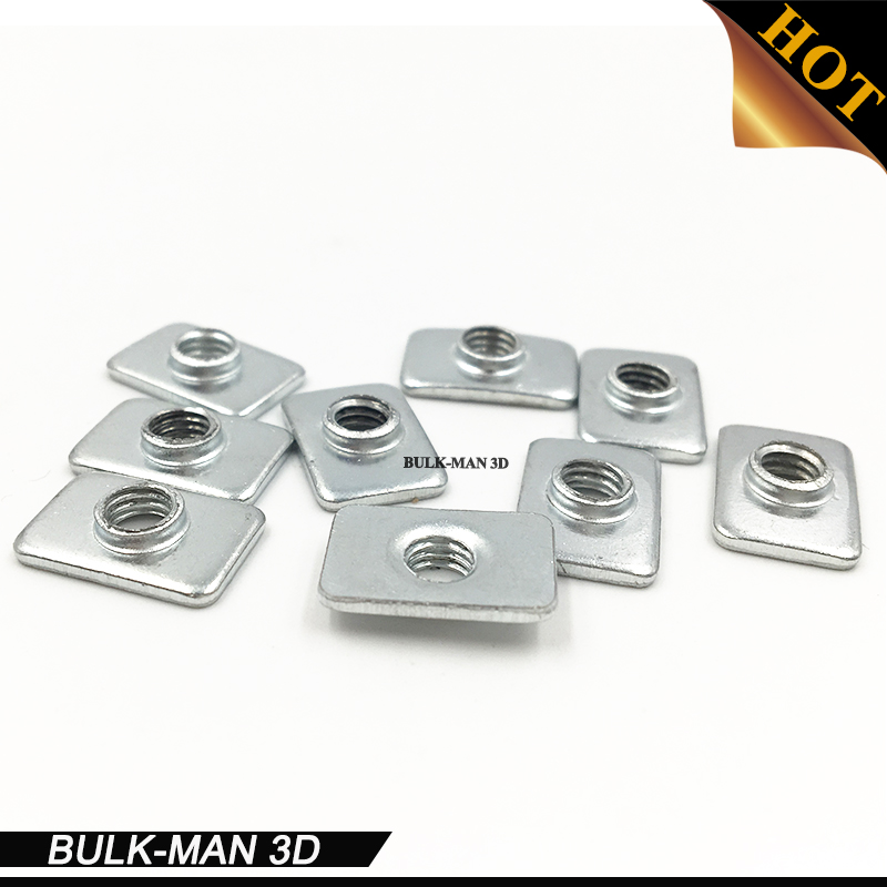 100pcs/lot retail M3/M5 Zinc plated Tee nuts for 2020 v-slot aluminum profile accessories цена