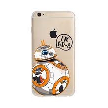 For iPhone 6S Case Star Wars The Force Awakens BB 8 BB8 Droid Robot Soft TPU