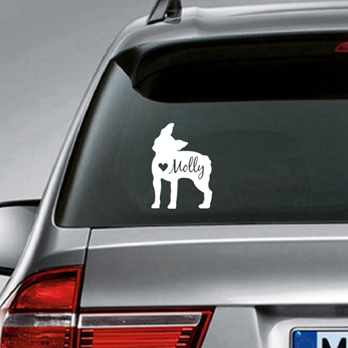 Laptop Decal Car Decal Boston Terrier Custom Vinyl Sticker Decal