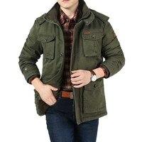 American Military Jackets Winter Men Hooded Fleece Coat Warm Thick Windbreaker Loose Parka Big Pocket Male Clothing Big Size 8XL