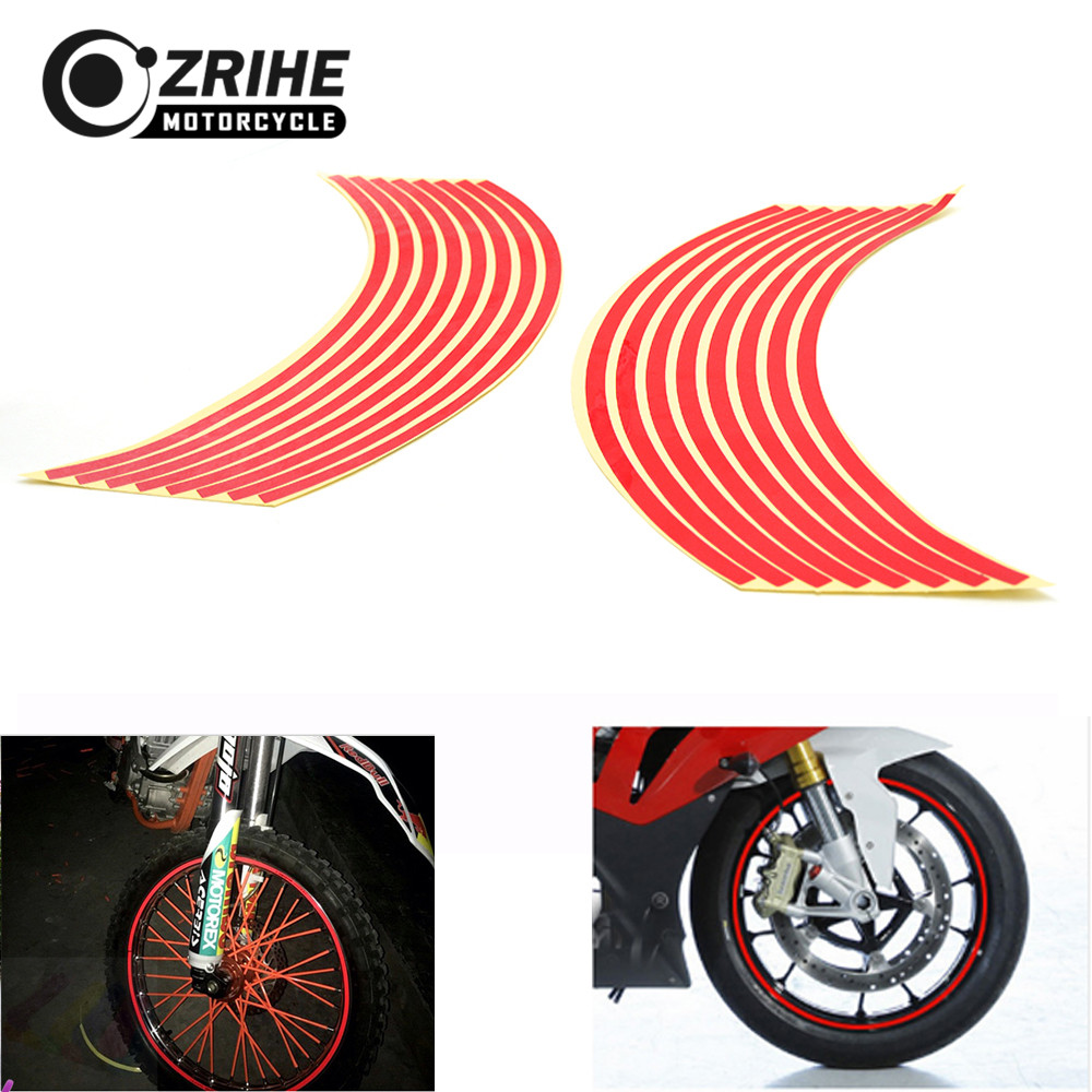 Universal for <font><b>Yamaha</b></font> yzf <font><b>R6</b></font> R1 TMAX 500 1999-16 16 Pcs 17inch/18inch <font><b>wheel</b></font> Strips Motorcycle Reflective <font><b>Wheel</b></font> <font><b>Sticker</b></font> image
