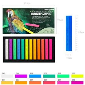 Image 1 - 12 Màu Huỳnh Quang Mực Màu Pastel Sinh Viên Phác Thảo Đồ Bộ Tranh Vẽ Bút Trường Văn Phòng Phẩm Vật Dụng Mềm Crayon
