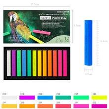 Toner Pastel de couleur fluorescente, stylo à dessin pour étudiants, stylo à dessin, fournitures de papeterie scolaire, Crayon doux, 12 couleurs