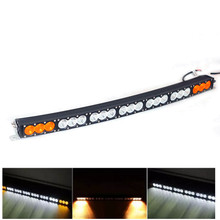 Auto lamp White Amber double color Curved LED Light Bar 22 27 32 38 42 48 54 Inch 120W to 300W For 4x4 4WD offroad