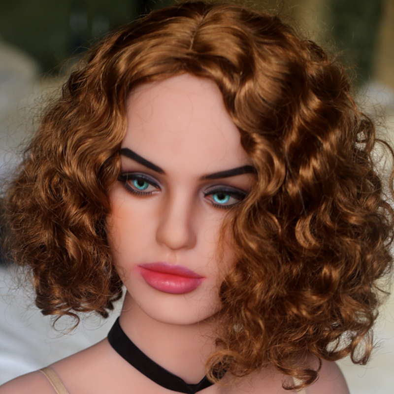 NEW WMDOLL TPE sex doll head, Tan skin adult dolls head for solid love doll, sex toy for men