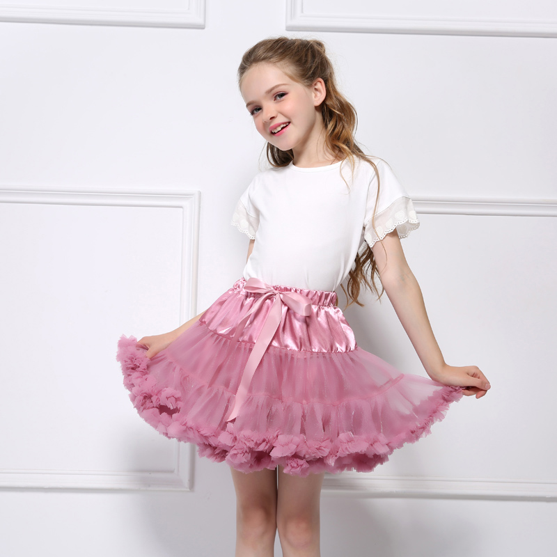 все цены на 2018 Kids girl skirts Princess Tutu Skirt Dance Ballerina Pettiskirt Toddler Fluffy Ballet Skirt For Girls Party Tulle Miniskirt