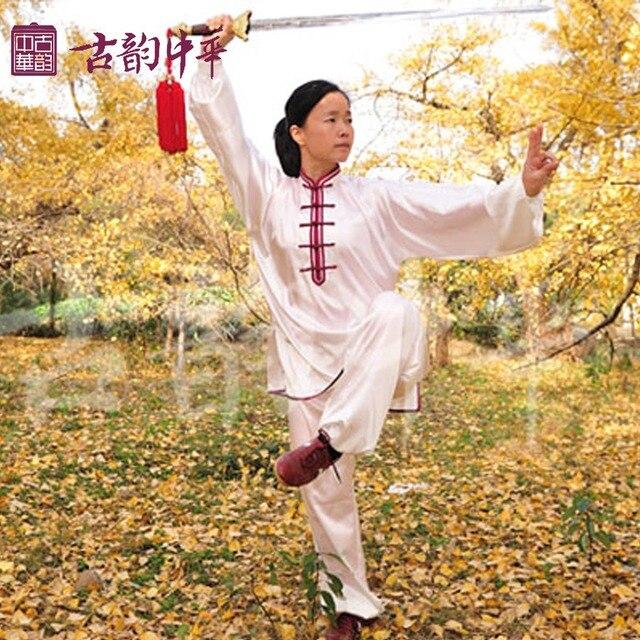 Древние Китайские дамы пряжа Тайцзицюань одежда костюмы тай-чи одежды одежда Мулан