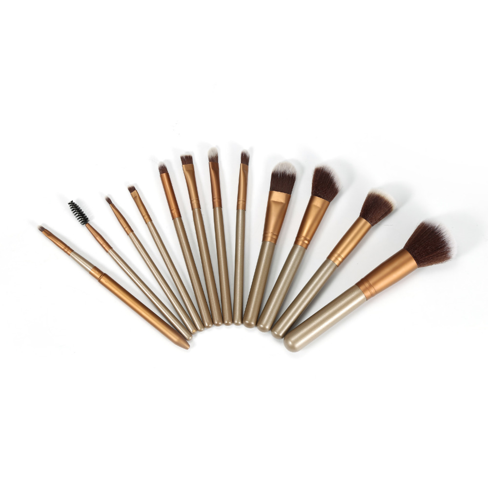 Pro 12pcs Makeup Brushes Set Foundation Eyeshadow Blending Beauty Make Up Brush Set Kit with Cup Holder Case Pincel De Maquiagem dental kerr finishing polishing assorted kit occlubrush cup brushes