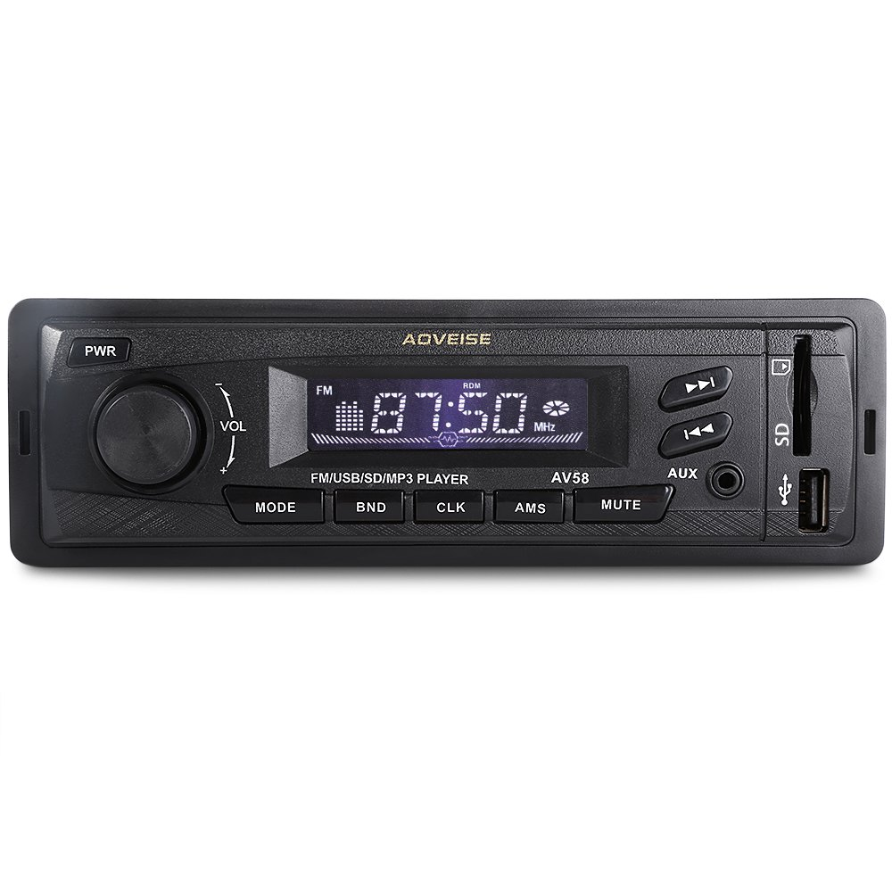 car radio auto audio stereo with 12v in dash auto car radio mp3 player fm radio aux input. Black Bedroom Furniture Sets. Home Design Ideas