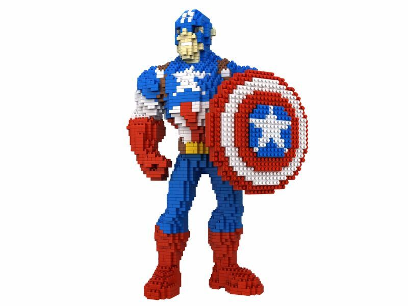 Cartoon Kunststoff Bausteine Hero Auktion Figuren Captain America ...