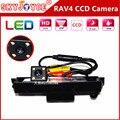 A Visão noturna câmera CCD Câmera Traseira rav4 RAV4 Câmera conduziu a luz da placa de licença Do Carro Rear View reversa estacionamento backup Câmera