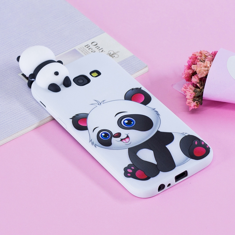 for coque samsung galaxy a3 2017 case 3d cartoon cat panda soft silicon back cover for samsung