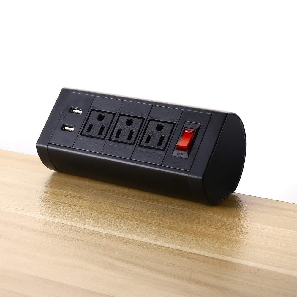 Prise de courant de montage de pince de Table USB, multiprise de protection contre les surtensions, portail de Surface de travail de Center d'alimentation de bureau intégré