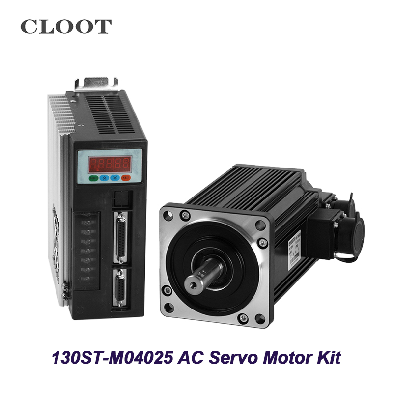 все цены на 130ST-M04025 AC Servo Motor 1KW 2500RPM Servo Motor Three Phase Motor With Mactched Driver Cable онлайн