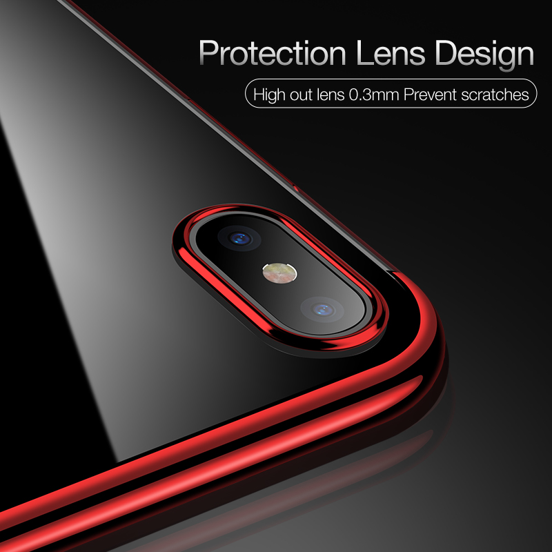 wholesale dealer 6cc33 c5eb9 2017 NEW Soft TPU Phone Case for iPhone X Cases Ultra Thin Transparent  Plating Shining Case for iPhone X 10 Mixed Silicon Cover-in Fitted Cases  from ...