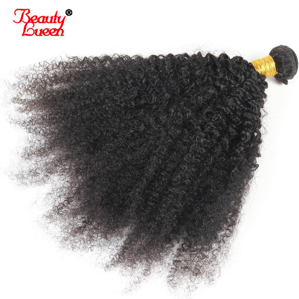 Afro Kinky Curly Hair Brazilian Hair Bundles Deal 100 Human Hair Weave 1 PC Can By