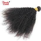 4B 4C Afro Kinky Curly Hair Brazilian Hair Bundles Deal 100% Human Hair Weave 1 Piece Non Remy Hair Extensions Beauty Lueen