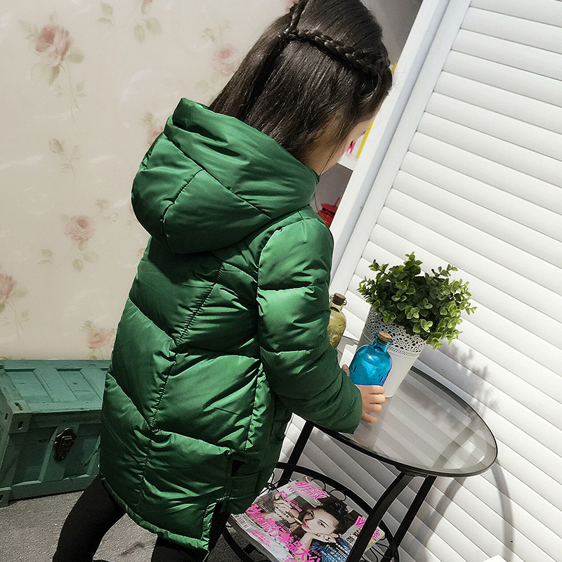 Baby Girls Winter Clothes Children Warm Cotton Padded Coats Hooded Jackets Coats Red Green Black 2017 fashion boy winter down jackets children coats warm baby cotton parkas kids outerwears for