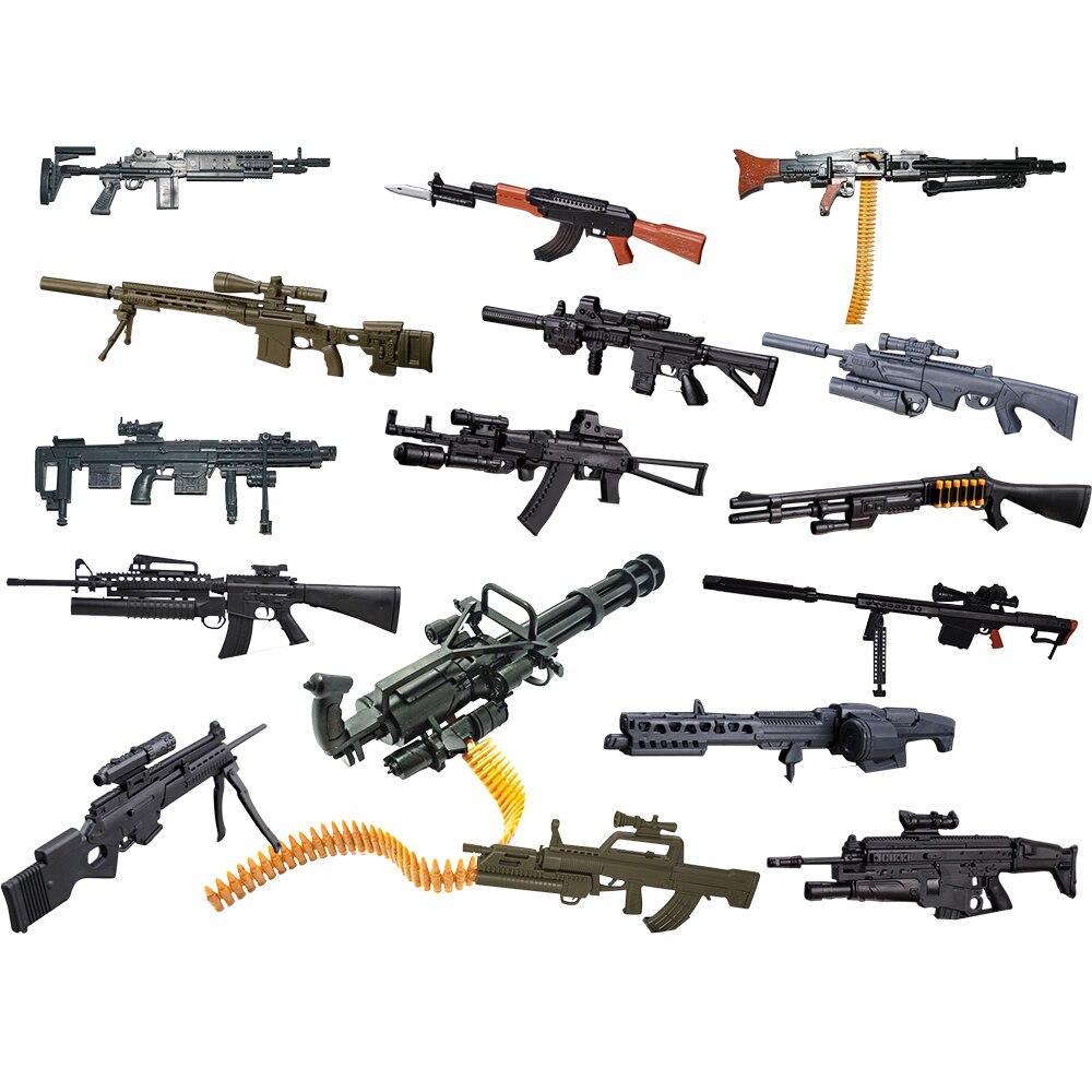 8Pcs/set 1:6 1/6 Scale Action Figures Remington Modular Sniper Rifle MG Bandai Gundam Model Use Hk416 AK-74 M134 SCAR MG62 AK74 repsol brake lever