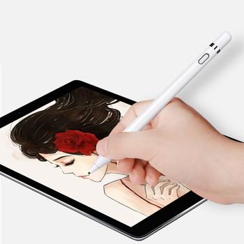 Długopis stylus z ekranem dotykowym do tabletu iPad iPhone Samsung Huawei cienki ołówek do telefonu IOS Android aktywny pojemnościowy ekran dotykowy tanie i dobre opinie Uniwersalny Tabletki 7inch For Tablets Metal White Stylus Pen Capacitive Touch Screen For Apple Pencil For iPad Tablets Pen Pencil