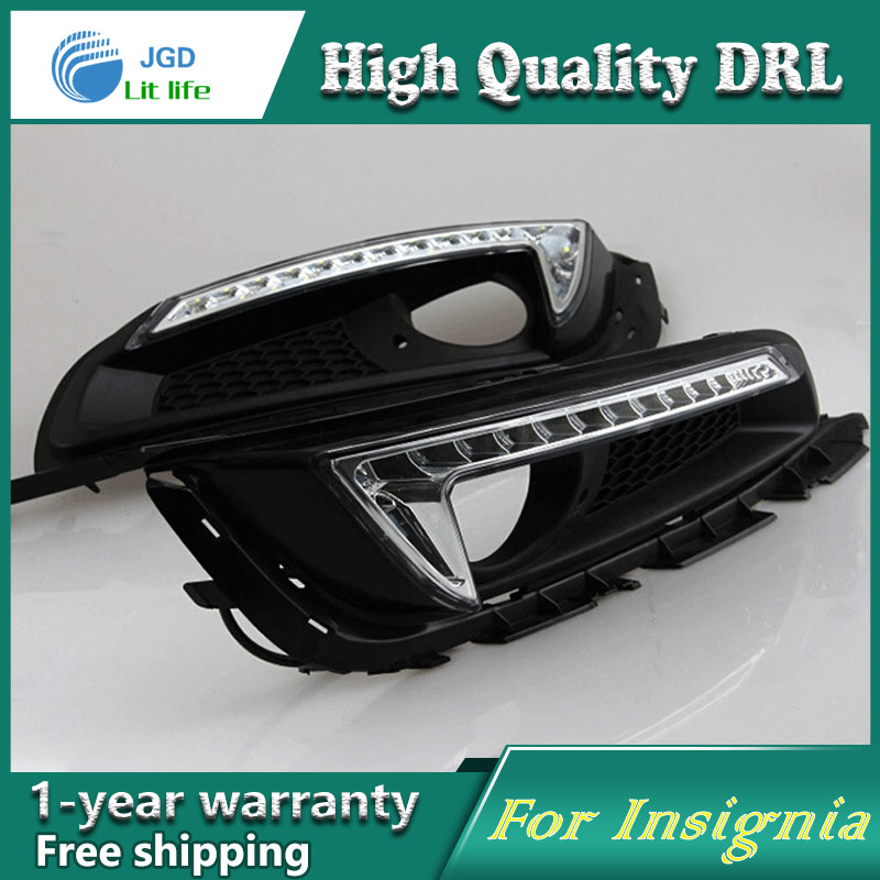 high quality ! 12V 6000k LED DRL Daytime running light for OPEL INSIGNIA 2013 2014 Fog lamp frame Fog light Super White