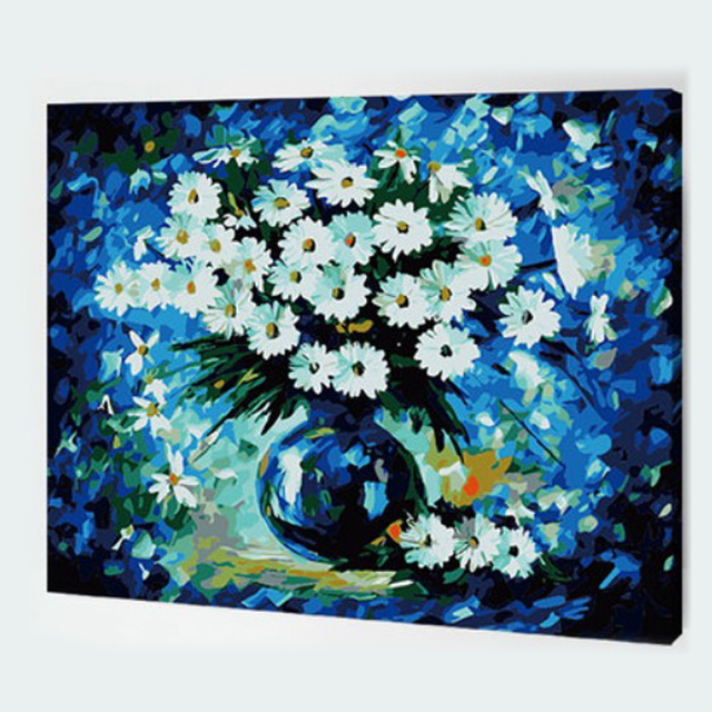 4050cm hand painted canvas oil paintings fairyland painting by numbers wall pictures for living - Living Room Paintings