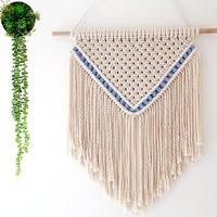 Hand woven Macrame Tapestry Wall Hanging Meter Box Cover Tapestry Mandala Background Wall Decoration Tapestry Boho Decor