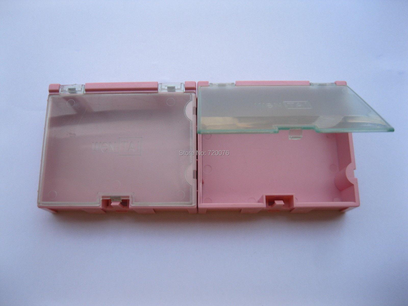 12 pcs SMD SMT Electronic Component storage box Pink 02P 12 pcs smd smt electronic component storage box yellow