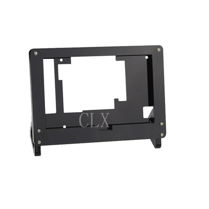 <font><b>5</b></font> <font><b>Inch</b></font> LCD Acrylic Case <font><b>Raspberry</b></font> <font><b>Pi</b></font> 3 Model B LCD Touch Screen <font><b>Display</b></font> Monitor Bracket Case for <font><b>Raspberry</b></font> <font><b>Pi</b></font> 3 LCD image
