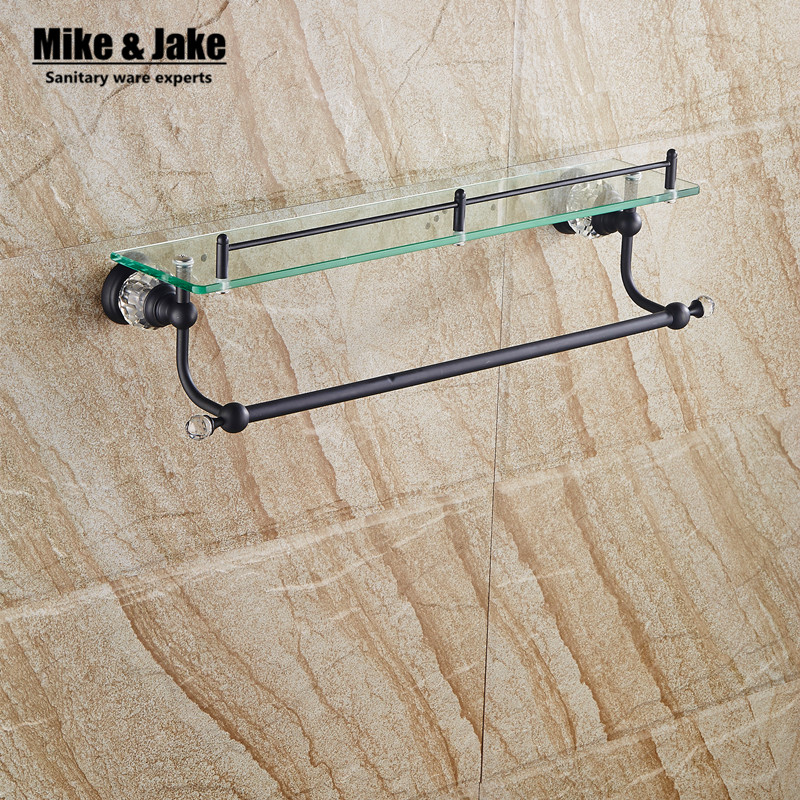 Online buy wholesale black glass shelf from china black for Black glass bathroom accessories