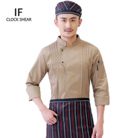 IF2018 high quality long sleeved Chef service Hotel working wear Restaurant work clothes Tooling uniform cook Tops Chef jackets
