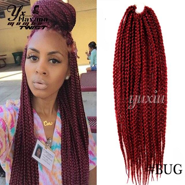 Lovely Long Hair Box Braids Black Crochet Twist Hair 12