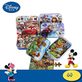 6 Styles Choose 60Pcs Disney Cartoon 3D Puzzle Iron Box Wooden Jigsaw Puzzles Birthday Gift Children Early Education Frozen