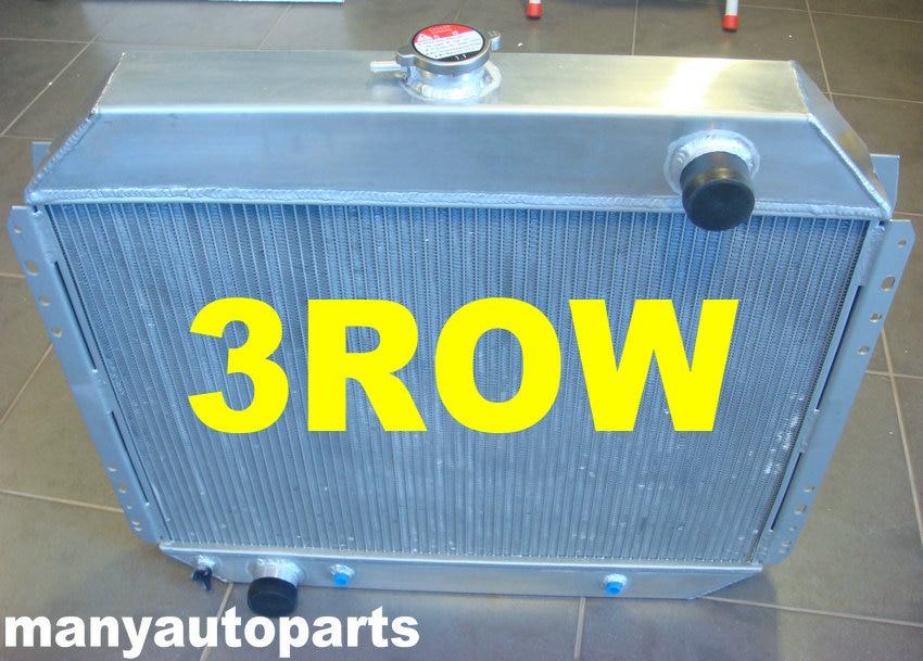 3 ROW Aluminum Radiator /& Fans FOR Ford F100 F250 F350 V8 1967-1981 1968 1970