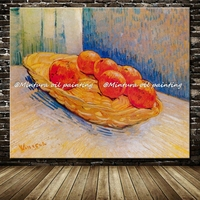 Basket With Six Oranges Of Vincent Van Gogh Reproduction Oil Painting On Canvas Wall Art For Home Decor Copy Vincent Van Gogh