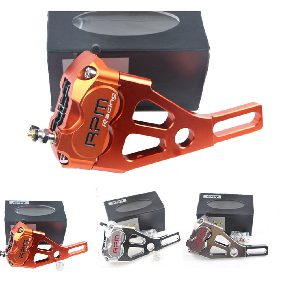 2015 Brand Universal Motorcycle Rear-wheel Motors Brake Calipers Brake Pump + 220mm Adapter Code Motorcycle Accessories 9 Colors new brand cnc aluminum motorcycle rear fork brake calipers pump 220mm adapter code 220mm brake disc universal accessories