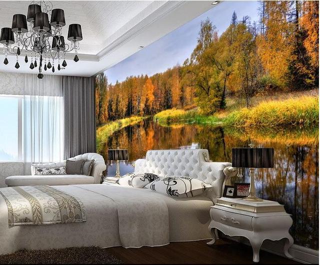 3d wallpaper benutzerdefinierten wandbild vlies wandaufkleber Herbst ...