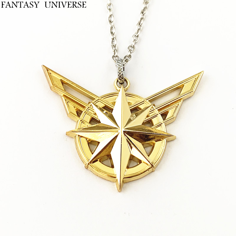 FANTASY UNIVERSE Freeshipping 20pc a lot Captain marvel Necklace HRSDJR05