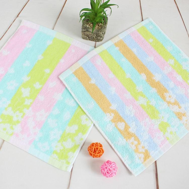 5P Square 26cm Exquisite Flower Kindergarten Children's Saliva Towel Cotton Gauze Hand Towel Sanitary Washcloth Bath Towel