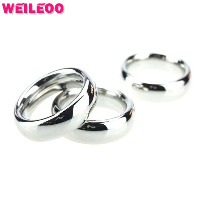 large size Bold delay cock ring stainless steel penis ring cockring ball stretcher adult sex toys for men sex toys for couples