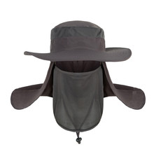 YIFEI New Summer wind-proof Sun Hats SPF 30+ UV Protection Fishing Hat Fisherman Cap Waterproof Big Bucket Hats with a wide brim