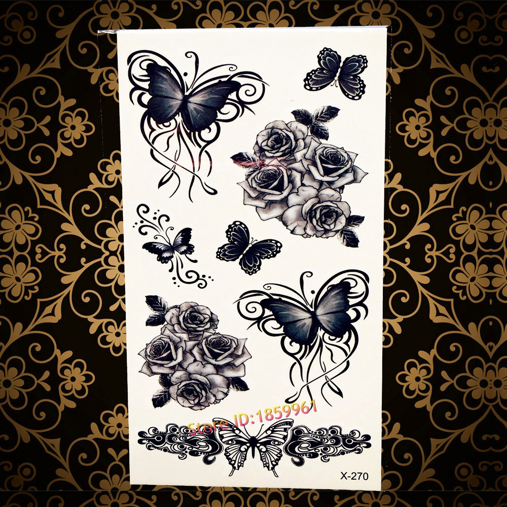 3D Dragon Head Tattoo Sticker Sketch Black Chinese Dragon Painting Designs  Cool Temporary Tattoo Stickers For Women Men AH009