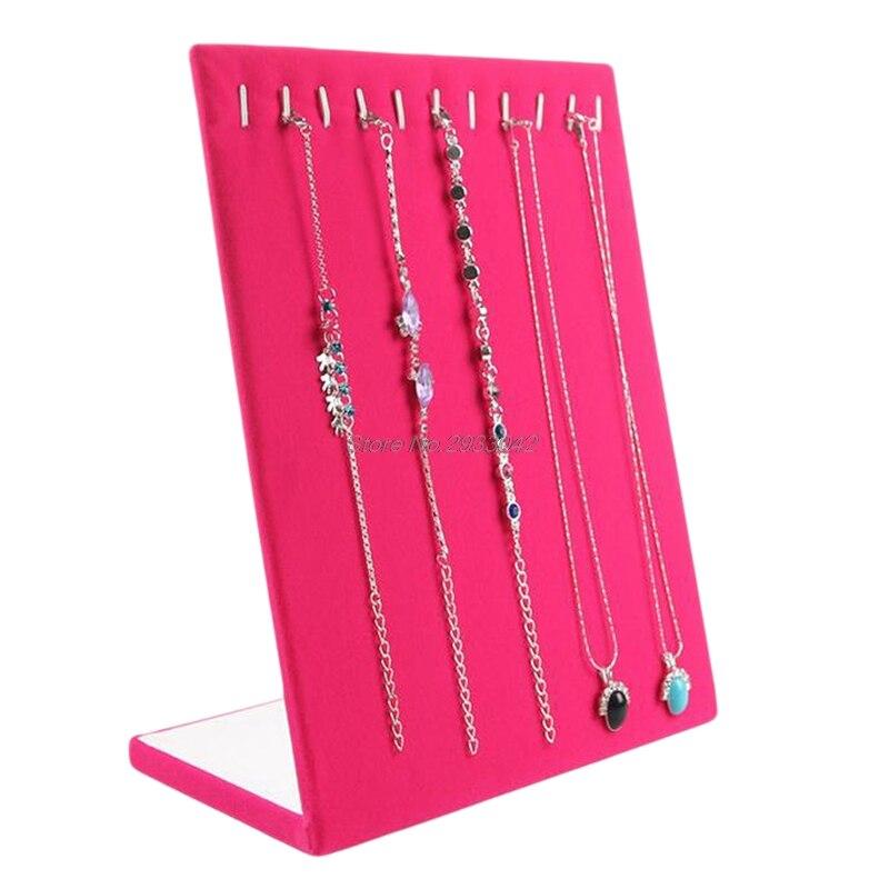 Perlen & Schmuck Machen Begeistert Samt Halskette Kette Armband Display Stand Bord Schmuck Werkzeuge Rack 11 Slots-w128 Weich Und Rutschhemmend Schmuckwerkzeuge & Ausrüstung